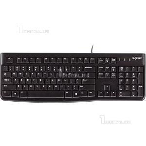 Клавиатура Logitech K120 Keyboard For Business, проводная черная, USB (920-002522)Logitech104 клавиши