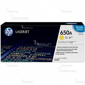 Картридж HP CE272A (№ 650A) желтый для Color LaserJet Enterprise CP5525 / M750HPРесурс 15000 страниц.