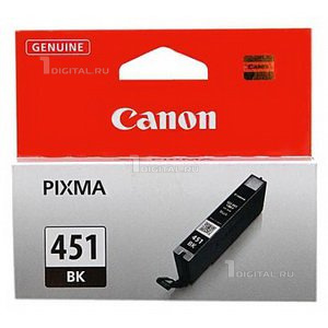 Картридж Canon CLI-451BK (6523B001) черный для Pixma iX-6840 MX-924 IP-7240/8740 MG-6340/6440/6640CanonРесурс 344 страницы Объем 7 мл.