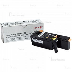 Картридж Xerox 106R02762 желтый для Phaser 6020/6022 WorkCentre 6025/6027 (1К)XeroxРесурс 1000 страниц