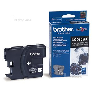Картридж Brother LC980BK чёрный для DC-P145C/165C/MFC-250CBrother300 стр.