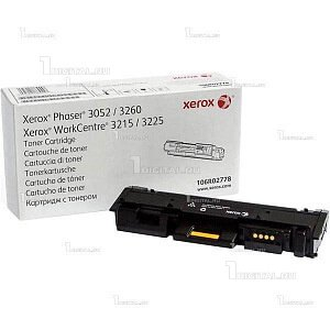 Картридж Xerox 106R02778 черный для Phaser 3052/3260 WorkCentre 3215/3225 (3K)XeroxРесурс 3000 страниц