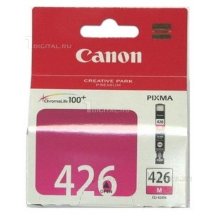 Картридж Canon CLI-426M (4558B001) пурпурный для Pixma iX-6540 MX-714/884/894 iP-4840/4940 MG5140/CanonРесурс 353 страницы Объем 9 мл.