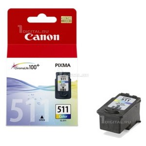 Картридж Canon CL-511 (2972B007) цветной для PIXMA MX320/330/340/350/360/410/420, iP-2700/2702 MP230CanonРесурс 244 страницы Объем 9 мл.