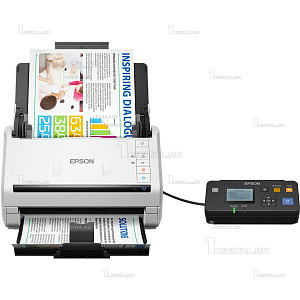 Сканер Epson WorkForce DS-530N (B11B226401BT) потоковыйEpson(A4, 600x600 dpi, 35 стр/мин., USB 3.0/ Ethernet)