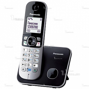 Радиотелефон Panasonic KX-TG6811RUB черныйPanasonic(беспроводной DECT, АОН, 170 час/ 15 час, до 6 доп.трубок)