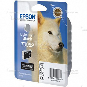 Картридж Epson C13T09694010 (T0969) для Stylus Photo R2880, Light-Light BlackEpson