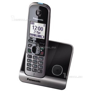Радиотелефон Panasonic KX-TG6711RUB черныйPanasonic(беспроводной DECT, АОН)