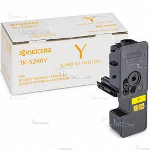 Картридж Kyocera TK-5240Y Yellow желтый для Ecosys M5526cdn/M5526cdw/P5026cdn/P5026cdw (3К) (1T02R7ANL0)KyoceraРесурс 3000 страниц
