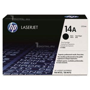 Картридж HP CF214A (14A) для LaserJet Enterprise 700 M712/ MPF M725HPРесурс 10000 страниц