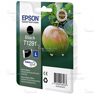 Картридж Epson C13T12914011 / C13T12914012 (T1291) Black черныйEpsonОригинальный черный картридж Epson C13T12914012 (T1291) для Stylus SX230/ SX235W/SX420W/ SX425W/ SX430W SX435W/ SX440W/ SX445W/ SX525WD/ SX535WD  Stylus Office B42WD/ BX305F/BX320FW/BX625FWD/BX635FWD WorkForce WF-3520DWF/WF-7015/ WF-7515/WF-7525