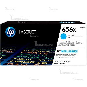 Картридж HP CF461X (656X) голубой для Color LaserJet Enterprise M652/ M653HP(ресурс 22000 стр)
