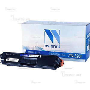 Картридж NV Print TN-320K черный для Brother HL-4140/4150/4570 DPC-9055/9270 MFC-9460/9465/9970 (2.5К)NV PrintРесурс 2500 страниц при 5% заполнении
