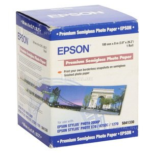 Фотобумага Epson рулон 100мм x 8м, полуглянцевая (C13S041330)EpsonPremium Semigloss Photo Paper
