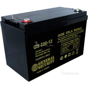Аккумулятор General Security GS 200-12 (12В, 200Ач / 12V, 200Ah)General SecurityТехнология AGM. Размеры: Д-522мм Ш-240мм В-218/224мм Вес 57 кг. Срок службы 6 лет.