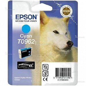 Картридж Epson C13T09624010 (T0962) для Stylus Photo R2880 CyanEpson