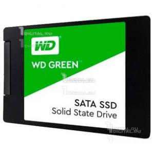 SSD накопитель Western Digital WDS120G2G0A SATA III 120Gb OriginalWestern DigitalТвердотельный диск 120GB WD Green, 2.5'', SATA III, [R/W - 545/- MB/s] 3D-NAND TLC