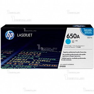 Картридж HP CE271A (№ 650A) голубой для Color LaserJet Enterprise CP5525 / M750HPРесурс 15000 страниц.