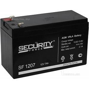 Аккумулятор Security Force SF-1207 (12В, 7Ач / 12V, 7Ah) ОПС- серияSecurity ForceСрок службы 3-5 лет. Размеры: Д-151мм Ш-65мм В-94/100мм Вес 1,96 кг. Технология AGM