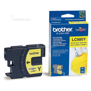 Картридж Brother LC980Y желтый для DC-P145C/165C/MFC-250CBrother260 стр.