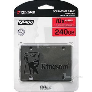 SSD накопитель Kingston 240GB SSDNow A400, 2.5'', SATA III (SA400S37/240G)KingstonR/W - 500/350 MB/s