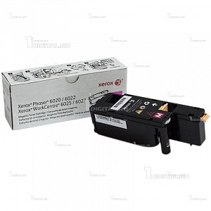 Картридж Xerox 106R02761 пурпурный для Phaser 6020/6022 WorkCentre 6025/6027 (1К)XeroxРесурс 1000 страниц