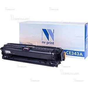 Картридж NV Print CE343A (651A) пурпурный для HP LJ Enterprise 700 MFP M775dn/M775f/M775z совместимый (16К)NV PrintРесурс 16000 страниц при 5% заполнении