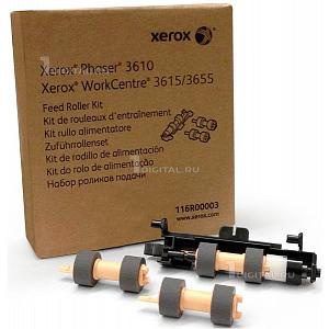 Комплект роликов Xerox 116R00003 подачи для Phaser 3610, WorkCentre 3615/3655 3 шт.XeroxFeed Roller Kit