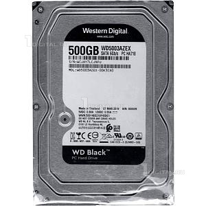 Жёсткий диск Western Digital 500GB WD Caviar Black 3.5'' SATA-III 7200rpm 64Mb (WD5003AZEX)Western DigitalУдаростойкость при работе 30G. Ударостойкость при хранении 350G