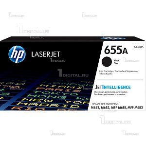 Картридж HP CF450A (655A) черный для LaserJet Enterprise M681/M682/M652/M653HP(ресурс 12500 страниц)