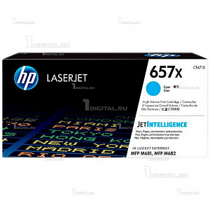 Картридж HP CF471X (657X) голубой для Color LaserJet Enterprise M681/ M682HPРесурс 23000 страниц