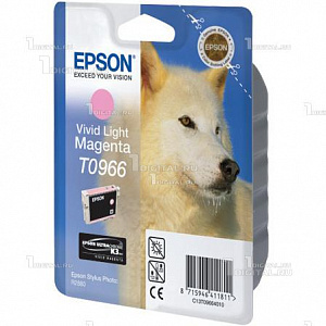 Картридж Epson C13T09664010 (T0966) для Stylus Photo R2880, Vivid Light MagentaEpson
