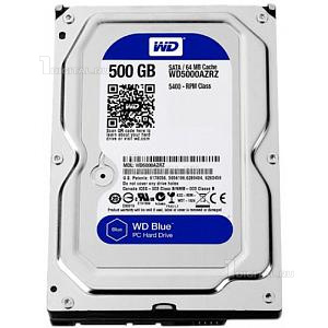 Жёсткий диск Western Digital 500GB WD Blue 3,5'' SATA-III 5400 RPM (WD5000AZRZ)Western Digital