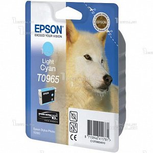 Картридж Epson C13T09654010 (T0965) для Stylus Photo R2880, Light CyanEpson