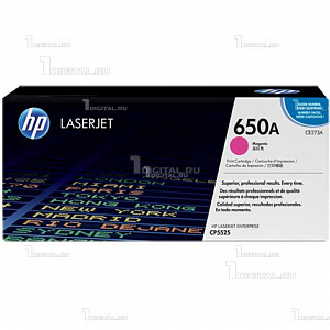 Картридж HP CE273A (№ 650A) пурпурный для Color LaserJet Enterprise CP5525 / M750HPРесурс 15000 страниц.