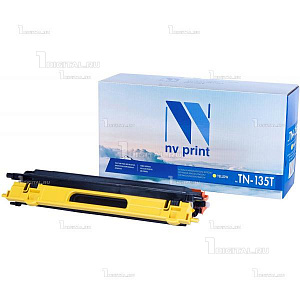 Картридж NV Print TN-135Y желтый для Brother HL-4040/4050/4070 DCP-9040/9042/9045 MFC-9440/9450/9840 (4K)NV PrintРесурс 4000 страниц при 5% заполнении